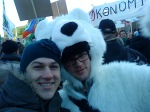 Jag och en isbjörn från grön ungdom tyskland