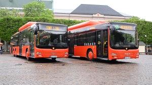 Biogasbussarna (Foto: Karlstadsbuss)